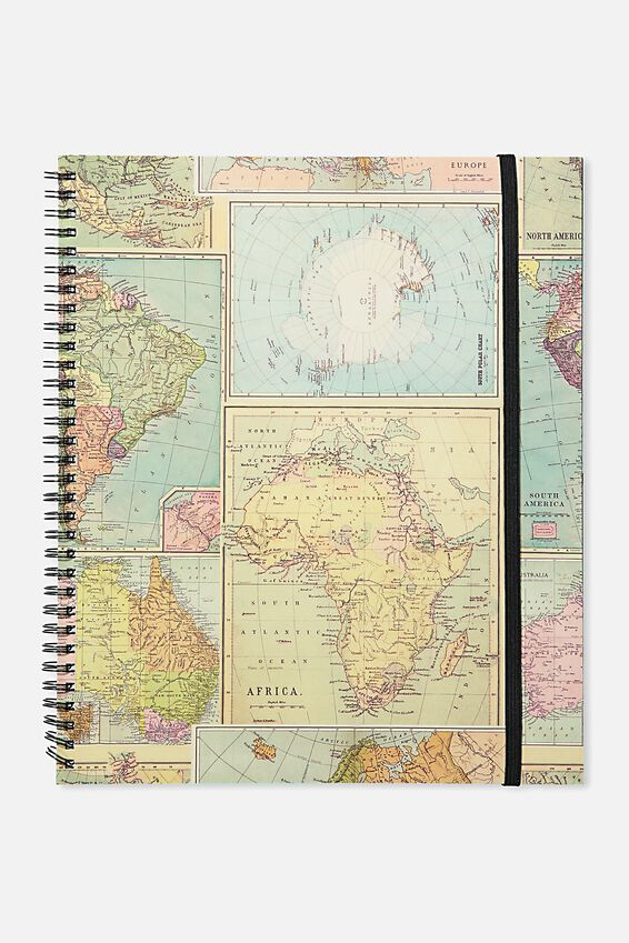 College Ruled Spinout Notebook V, ADVENTURE LOST MAP