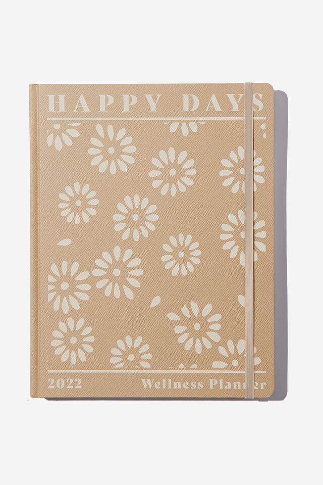 2022 Large Weekly Wellness Planner, STAMPED DAISY DRIFTWOOD