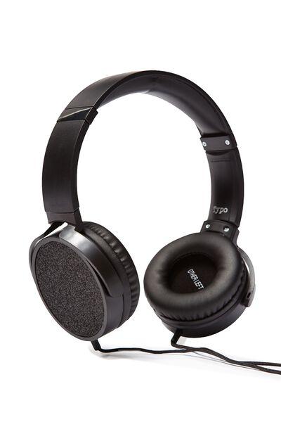 Reverb Headphones, BLACK GLITTER