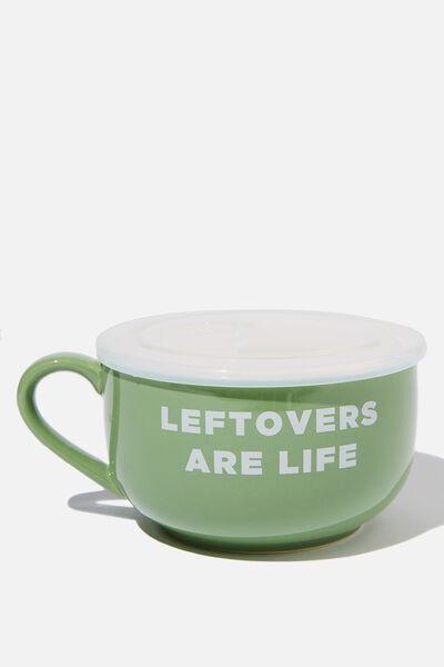 Big Mug Bowl, LEFTOVERS
