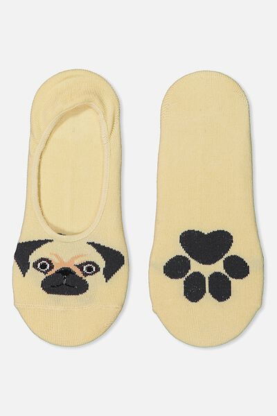 Novelty Hidden Sock, PUG