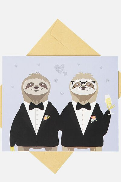 Wedding Card, MR & MR SLOTHS