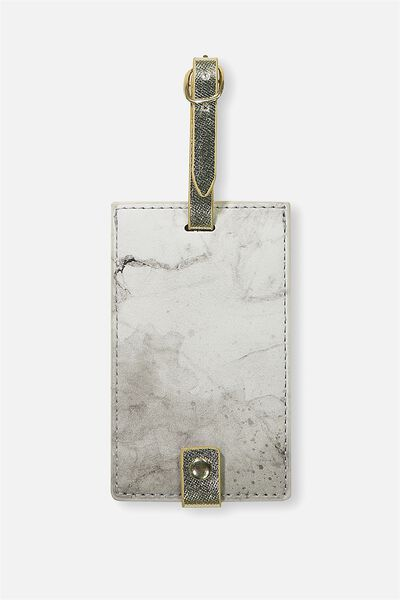 Core Luggage Tag, BLACK & WHITE MARBLE