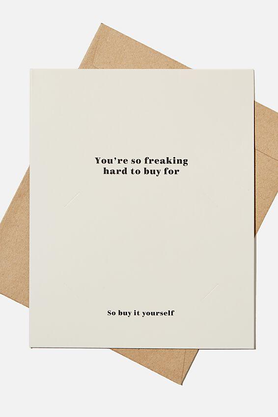 Premium Nice Birthday Card, SO HARD TO BUY FOR GIFT VOUCHER