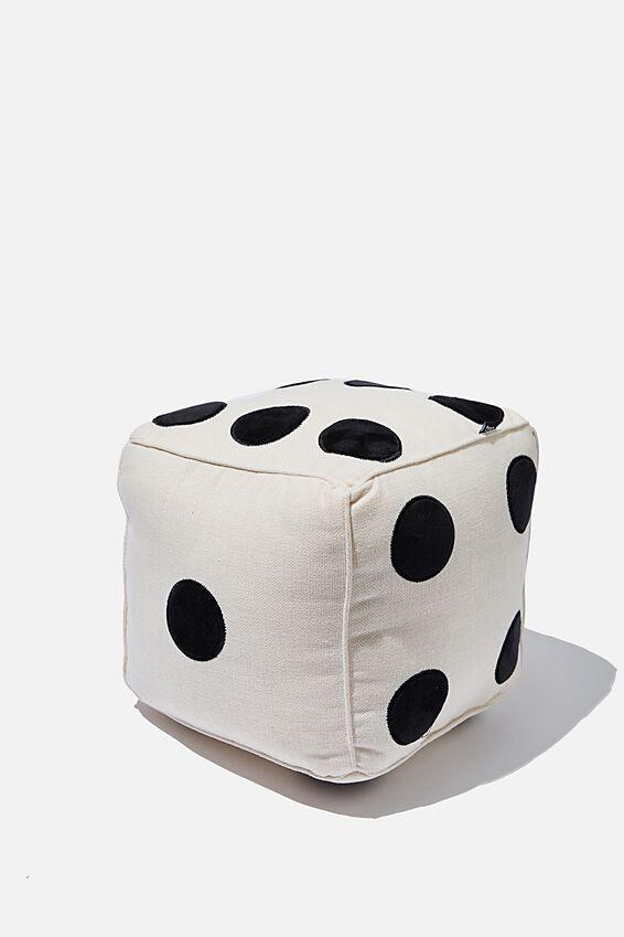 Get Cushy Cushion, WOVEN DICE