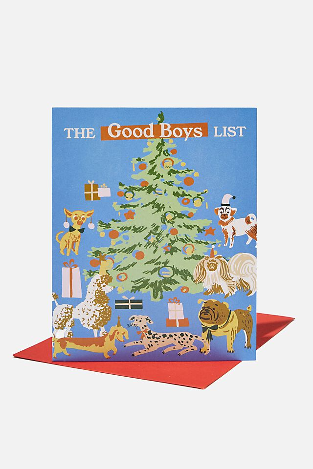 Christmas Card 2021, THE GOOD BOYS LIST DOGS!