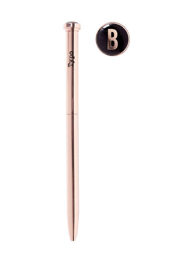 Initial Ballpoint Pen, ROSE GOLD B