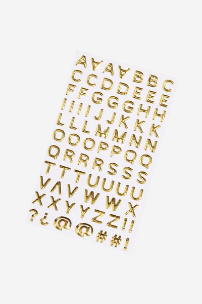 Alpha Sticker Pack, GOLD