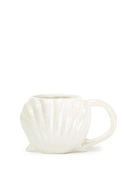 Novelty Shaped Mug, SEASHELL IRIDESCENT