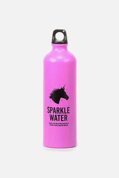 Single Wall Metal Drink Bottle, SPARKLE WATER