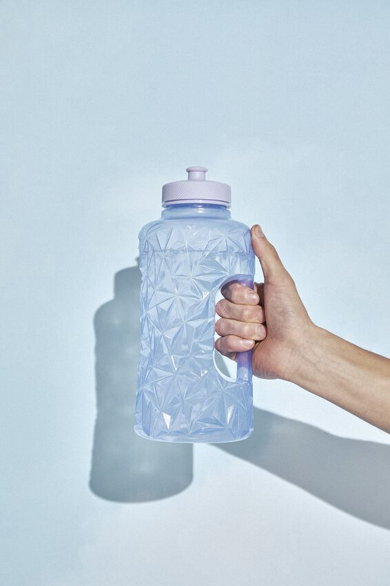 Faceted Drink Bottle, PALE LILAC