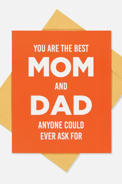 Mothers Day Card 2019, BEST MOM & DAD