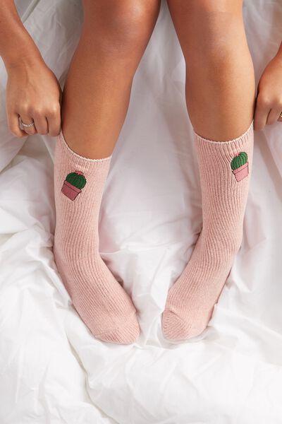Textured Socks, CHENILLE CUPCAKE