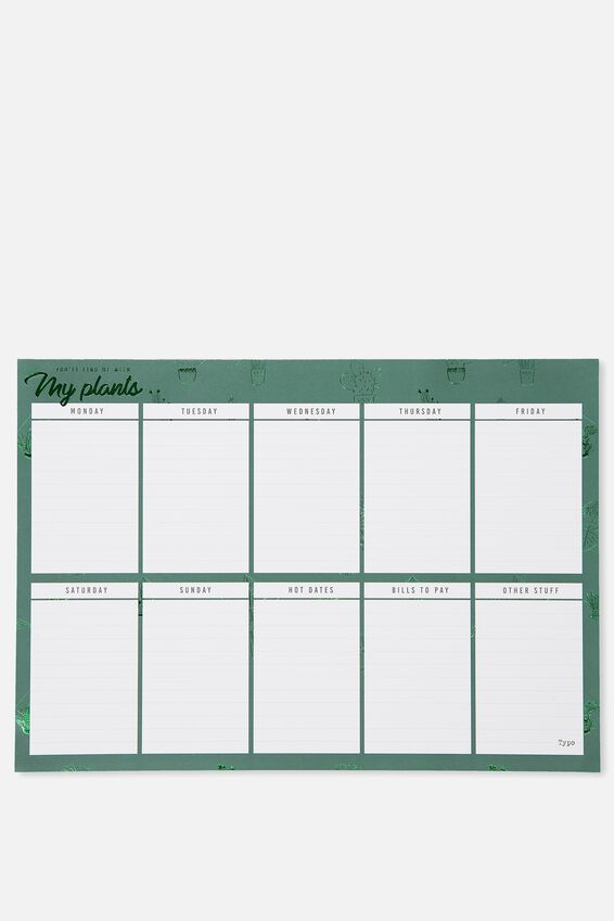 A3 Plan Ahead Planner, CACTUS WITH MY PLANTS