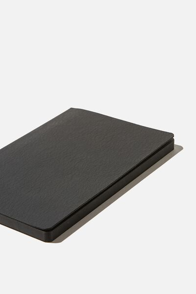 A5 Soft Buffalo Journal, JET BLACK