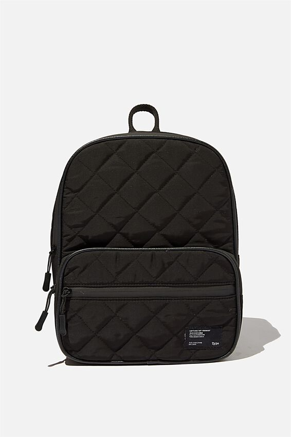 Nano Backpack, BLACK QUILTED