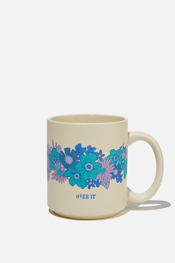 Daily Mug, OVER IT FLORAL BLUES