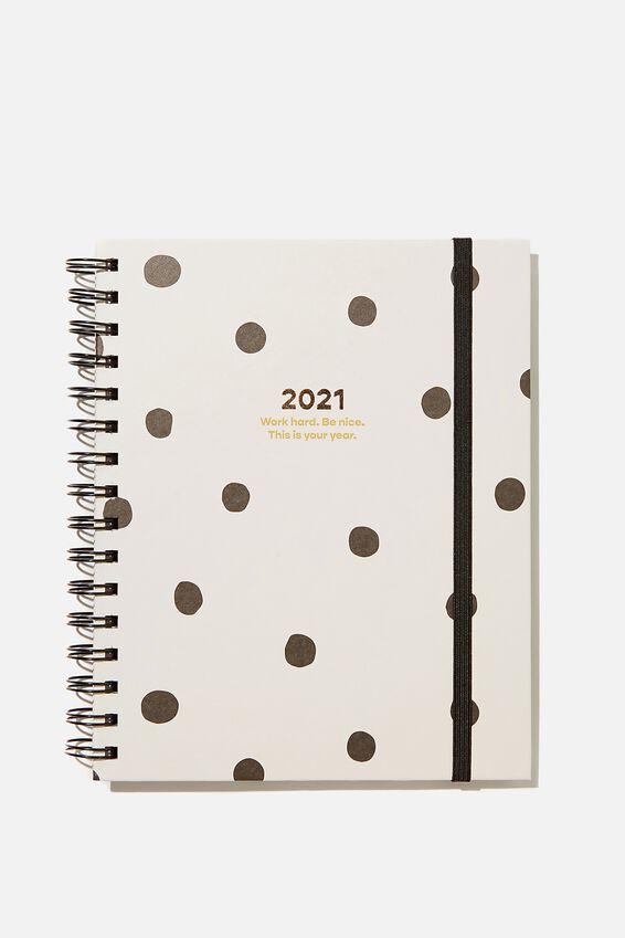 Student Planner 2021, ECRU POLKA DOT