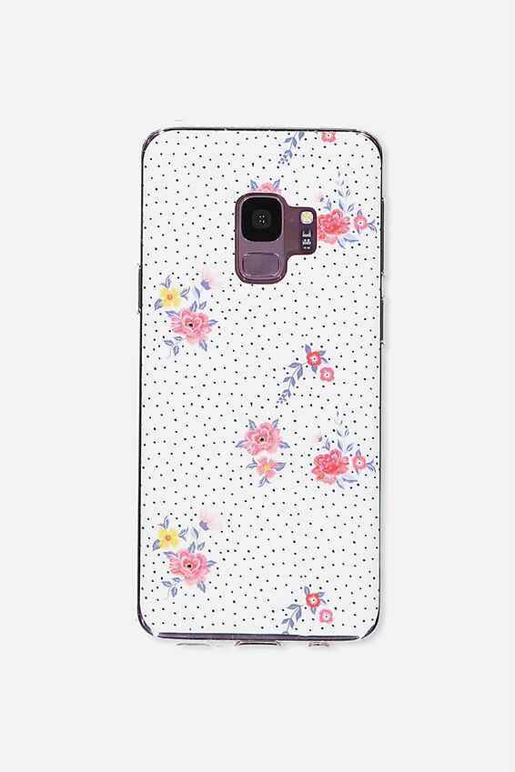Printed Phone Cover S9, DOTTY FLORAL