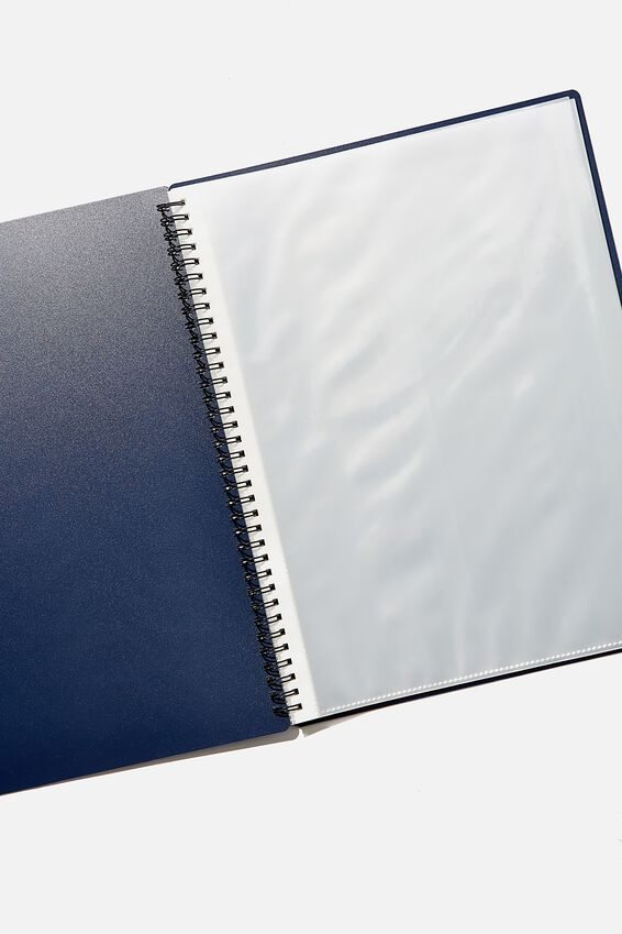 A4 Display Folder, NAVY BUSY