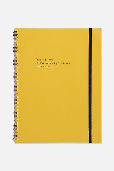 A4 Spinout Notebook Recycled, BELOW AVERAGE