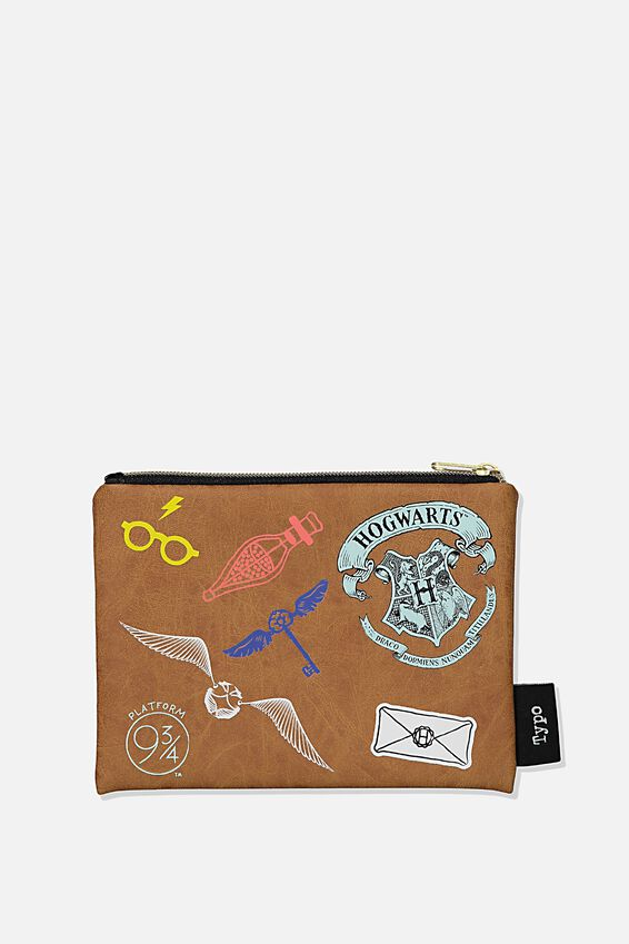 Harry Potter Pu Campus Pencil Case, LCN WB HPO BADGES