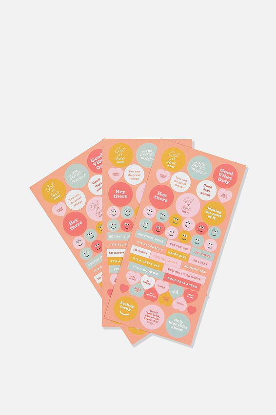 Sticker Pack, PINK & YELLOW
