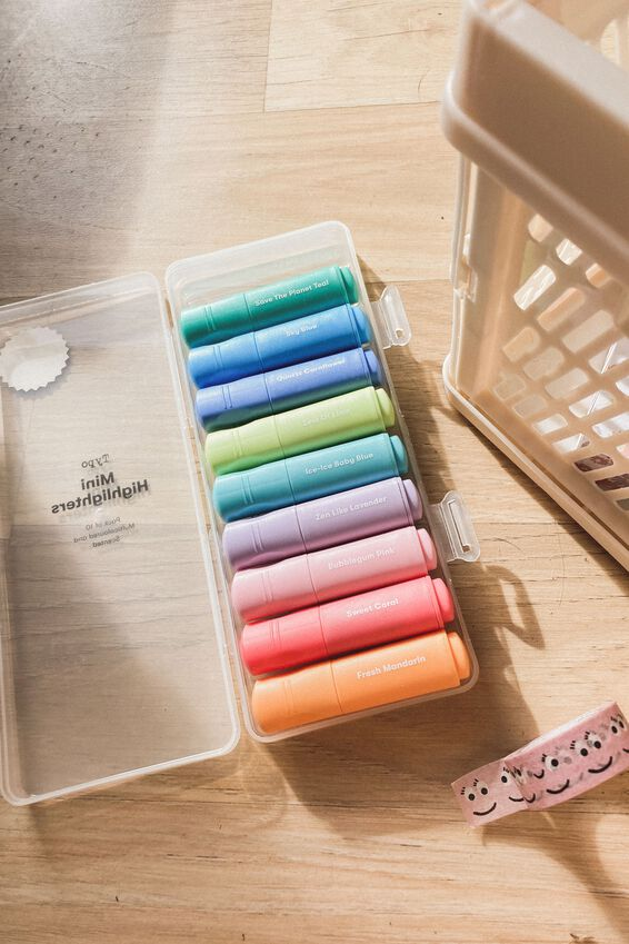 Mini Highlighter 10Pk, PASTELS