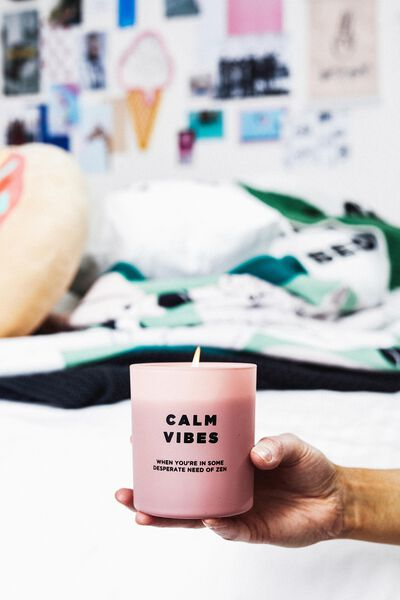 Solid Quote Candle, CALM VIBES