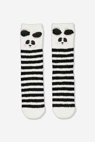 Long Slipper Socks, MULTI PANDA