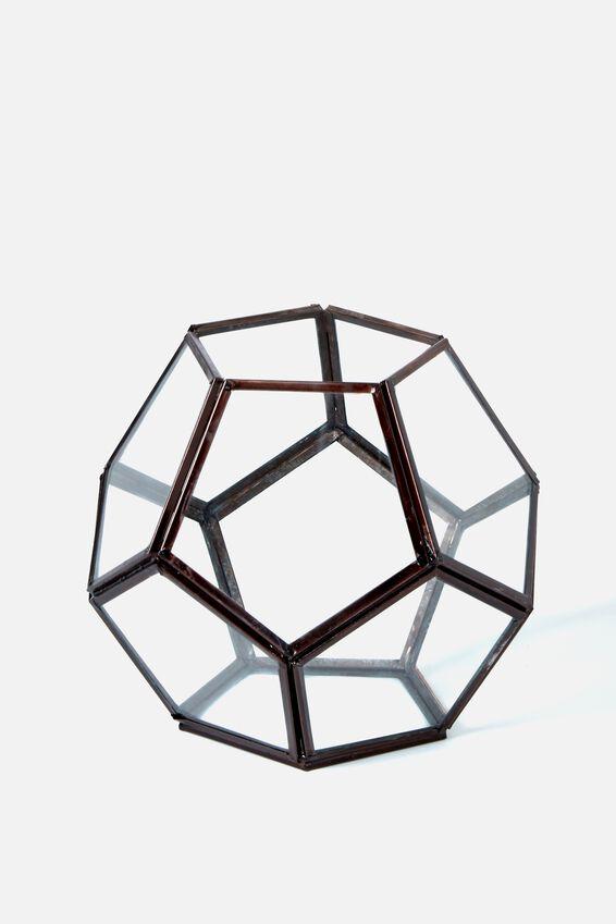 Glass Terrarium, PENTAGONAL