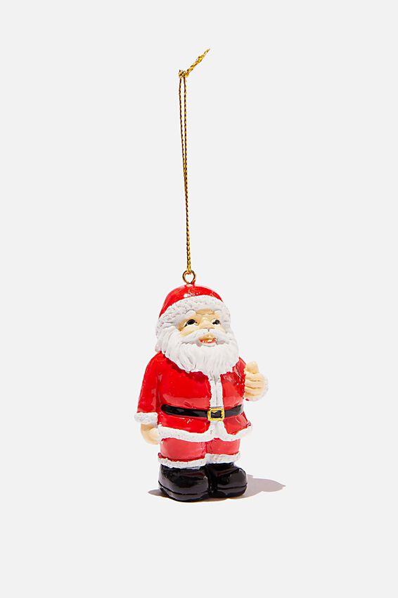 Resin Christmas Ornament, MERRY KISS MY ASS SANTA!