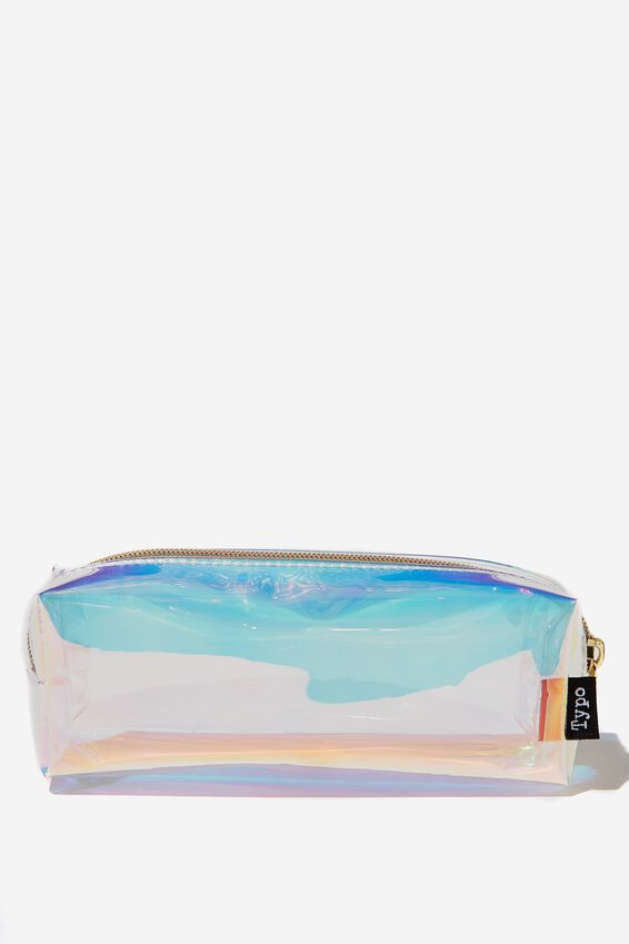 Clear Bailey Pencil Case, HOLOGRAPHIC