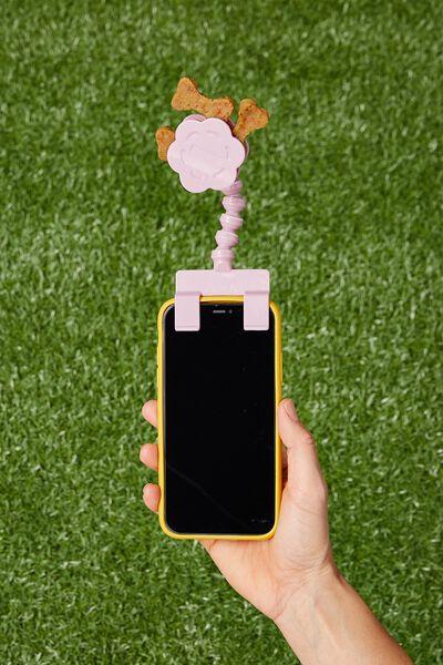 Pet Treat Selfie Clip, DUSTY LILAC