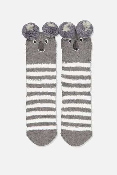 Long Slipper Socks, KOALA