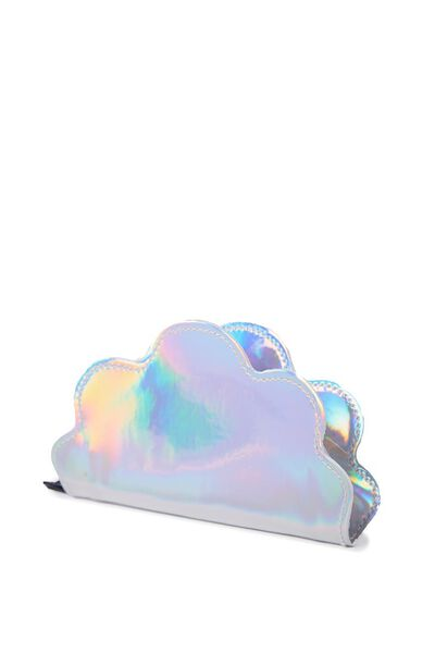 Cashed Up Coin Purse, HOLOGRAPHIC CLOUD