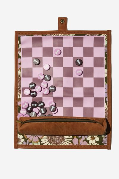 2 In 1 Roll Up Chess And Checker Set, SUNNIE FLORAL