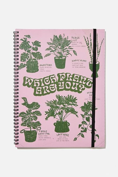 A4 Spinout Notebook Recycled, WHICH PLANT ARE YOU ILLUSTRATION