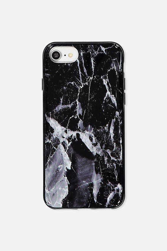 Printed Phone Cover Universal 6,7,8, BLACK MARBLE