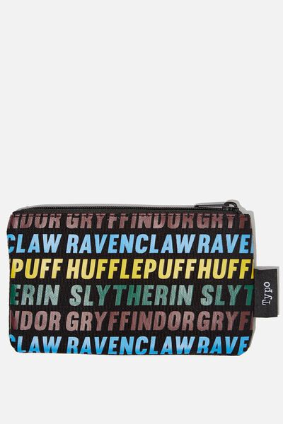 Canvas Pencil Case, LCN WB HP HOUSES YARDAGE