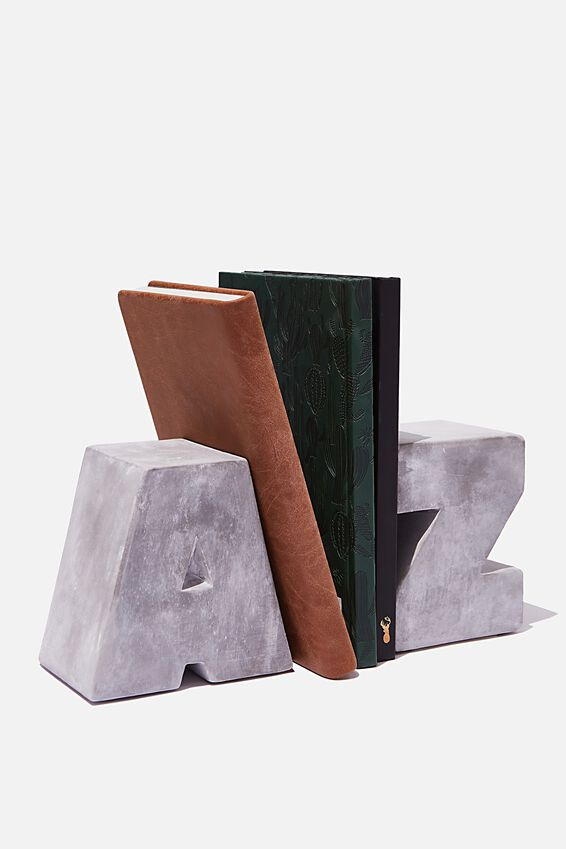 Cement Bookends, A TO Z