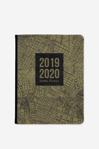 2019/20 A5 Hidden Spiral Diary, KHAKI