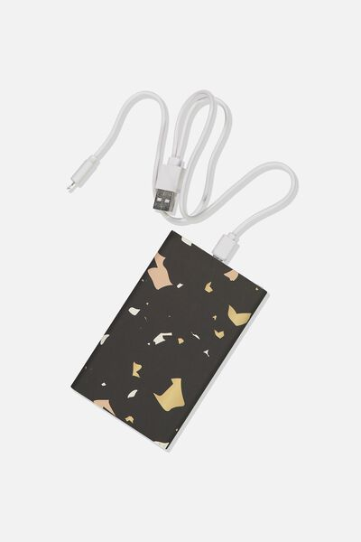 Printed Charge It Charger, TERRAZZO
