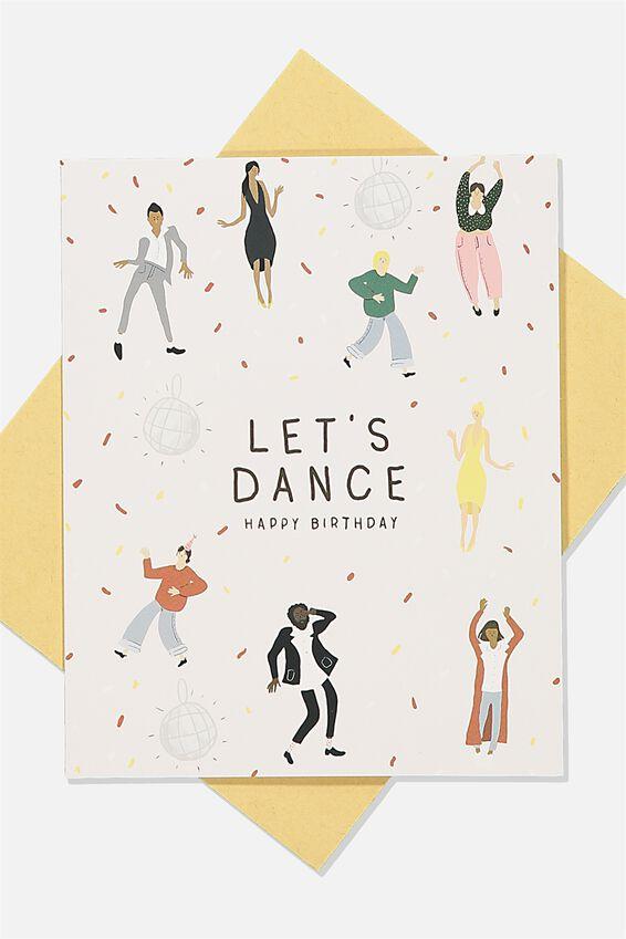 Nice Birthday Card, LETS DANCE DISCO PEOPLE
