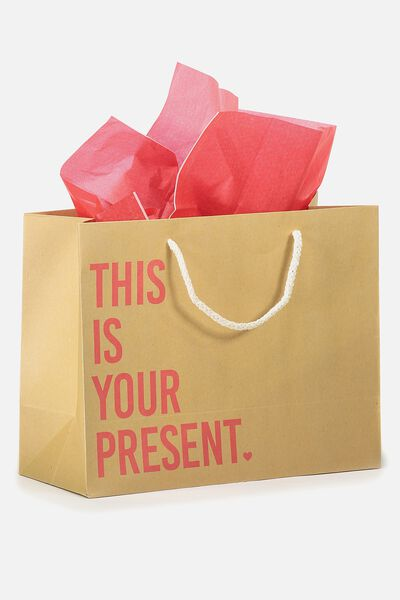 Medium Gift Bag with Tissue Paper, THIS IS YOUR PRESENT