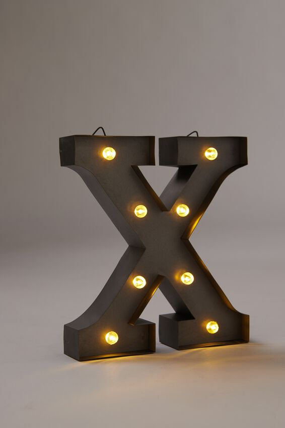 Midi Marquee Letter Lights 6.3inch, SILVER X