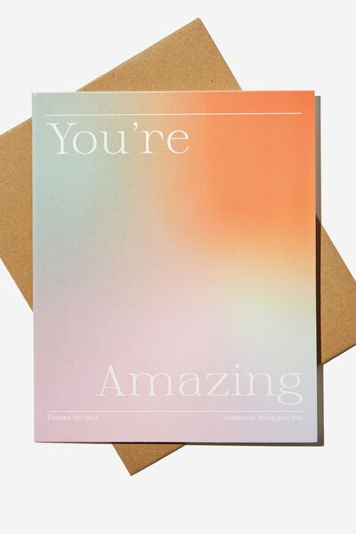 Thank You Card, YOURE AMAZING SOLARISED