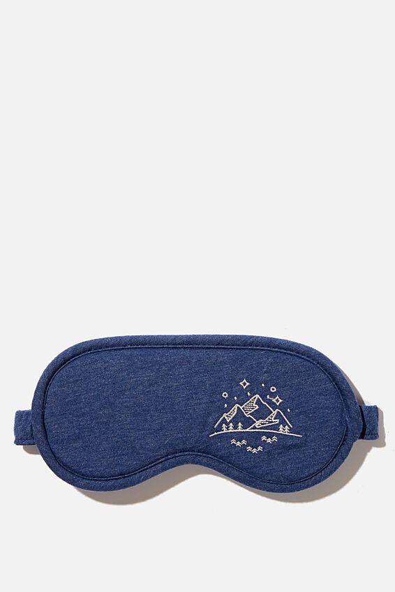 Premium Sleep Eye Mask, NAVY MARLE MOUNTAINS