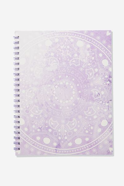 A4 Campus Notebook, LILAC MANDALA