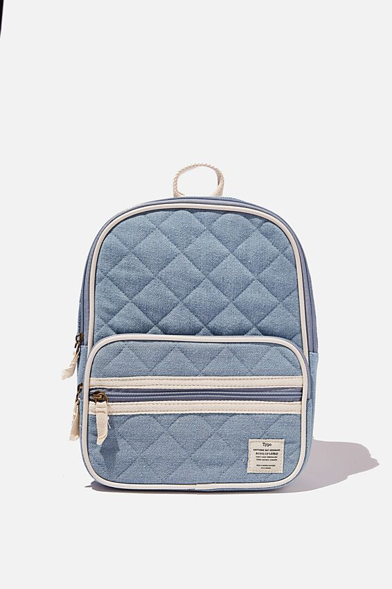 Nano Backpack Dm, DENIM QUILTED